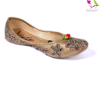 Instylo Girls Gold Flats