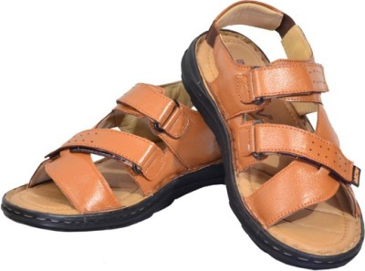 babatoes Men Black Sandals
