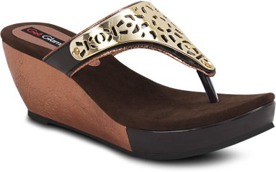 Get Glamr Stylish Women Brown Wedges