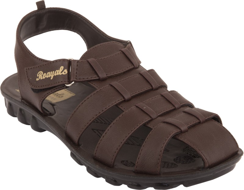 Roayals Men Brown::Black Sandals