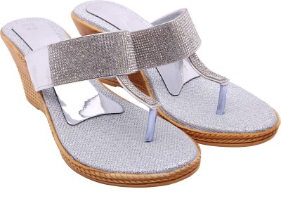 Royal Collection Women Silver, Gold Wedges