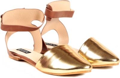TEN Women Gold Flats