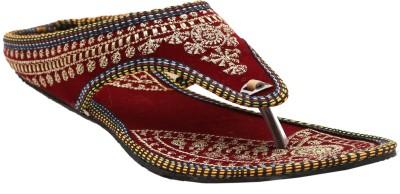 Ridhi Sidhi Women, Girls Multicolor, Maroon Flats