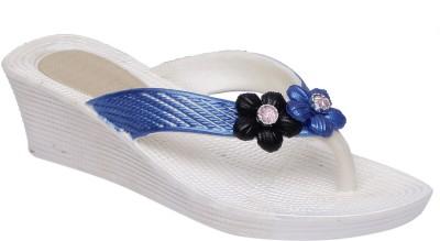 Fab Fashion Women Blue Wedges