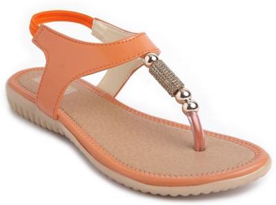JIPSI Women Orange Flats