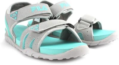Fila Women LT GRY/AQU GRN Sports Sandals