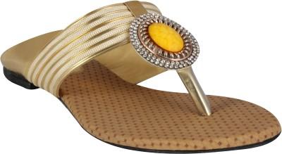 XQZITE Women Gold Flats