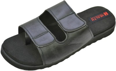 Health Line MCP Men Black Sandals