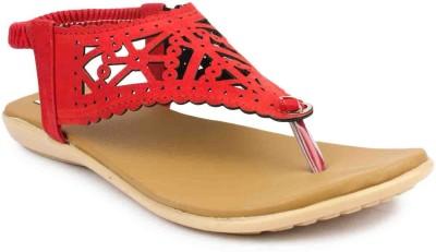 ADDO Women Red Flats