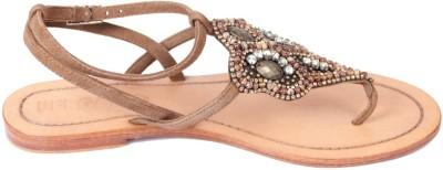 Foonty Women Brown Flats