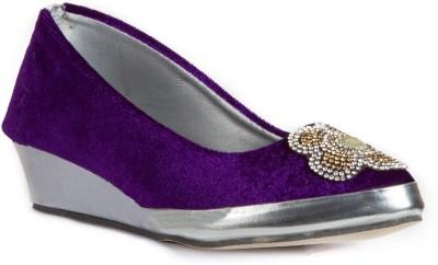 Babes Girls Purple, Silver Sandals