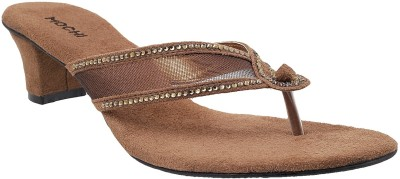 Mochi Women Brown Heels