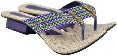 Diovanni Women Purple, Beige Heels