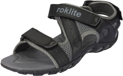 Roklite Men Grey, Black Sports Sandals