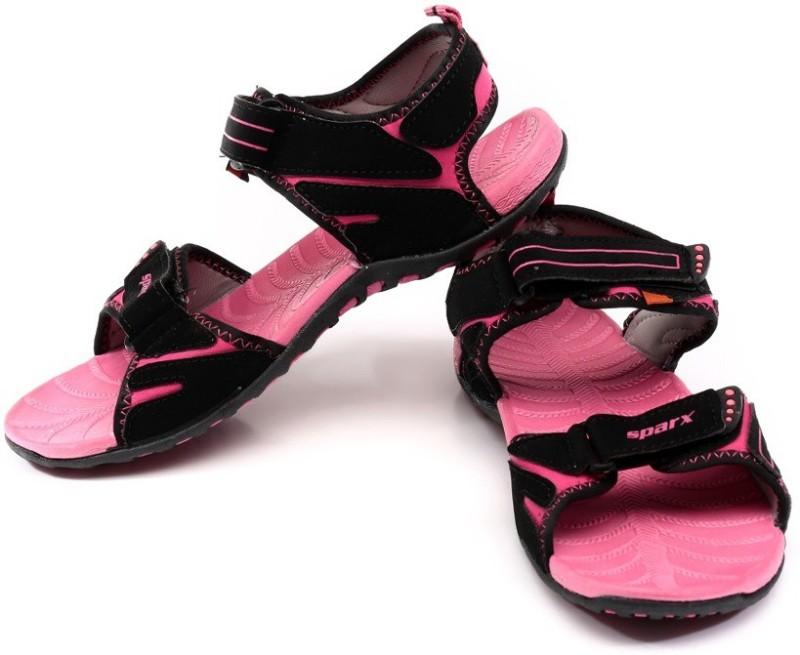 Sparx Women BlackMagenta Sports Sandals