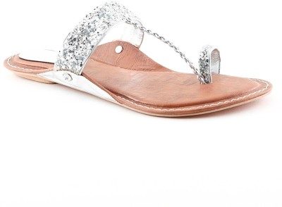 Cenizas MD14 Collection Women Silver Flats