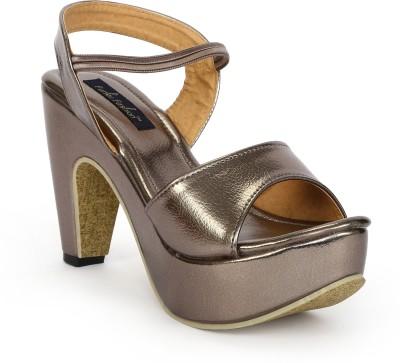 Funku Fashion Women Grey, Grey Heels