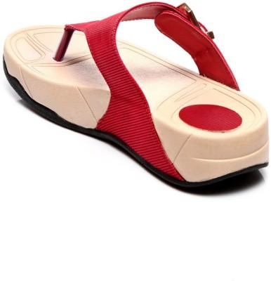 Marc Loire Leslye Rosanne Women Red Flats