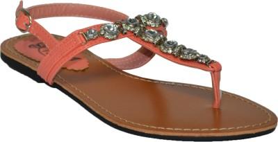 TSF Coral Sandal Women Orange Flats