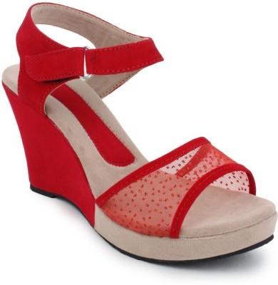 Alexus Women Red Wedges