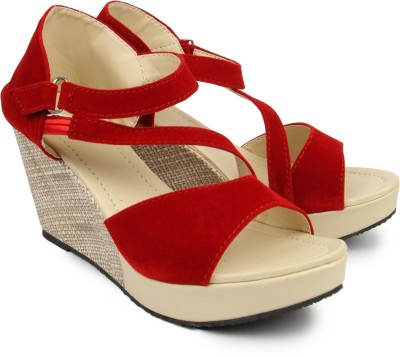 Demyra Women Red Wedges