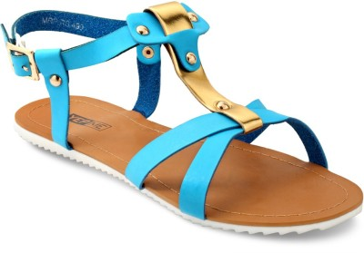 Yepme Women Blue, Gold Flats
