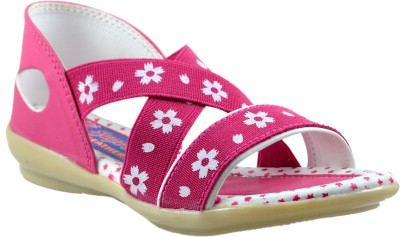 Supreme Leather Baby Girls Pink Sandals