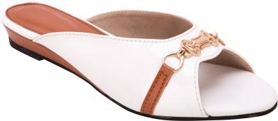 Trotters Women White Flats