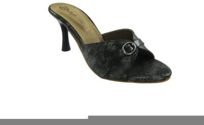 Mapple Leeaf Women Black Heels