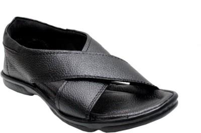 Arnaldo Men Black Sandals