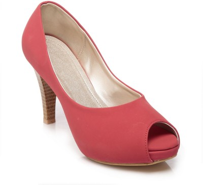 FEET N KNOTS Women Pink Heels