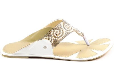 INDIANO Women White Flats
