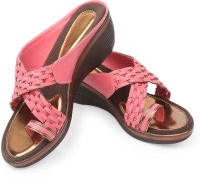 Pero Lino Women Pink Wedges