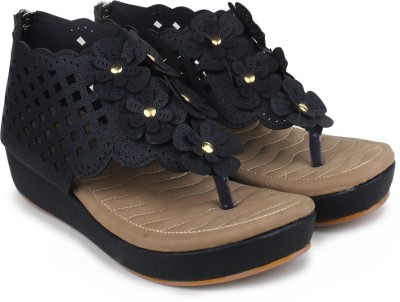London Steps Women Black Flats