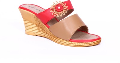 Adjoin Steps Women Red Wedges