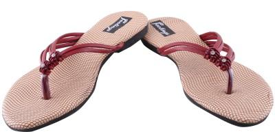 Footings Women Maroon Flats