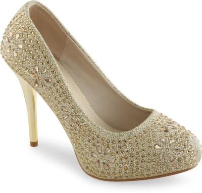 Shuz Touch Women Gold Heels