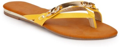 Addons Women Yellow Flats