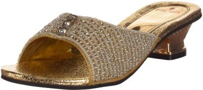 Kolapuri Center Women Gold Heels