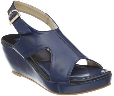 Diva Women Blue Wedges