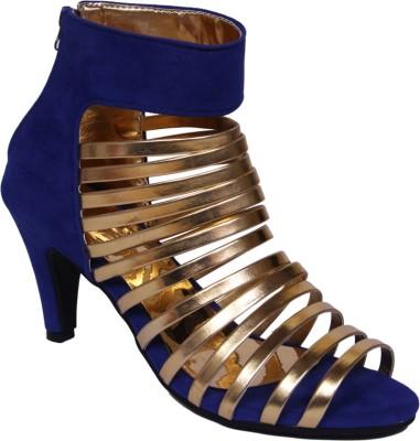 John Sparrow Women Blue, Gold Heels