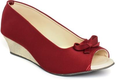 Nshell Girls Maroon Sandals