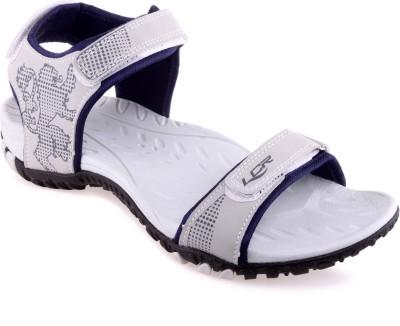Lancer Men Grey, Blue Sports Sandals