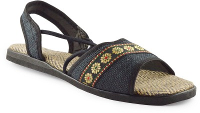 Kakolikrishti Girls Black Sandals