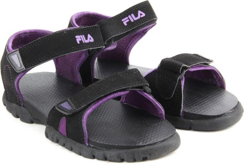 Fila Women BLK/PUR Sports Sandals