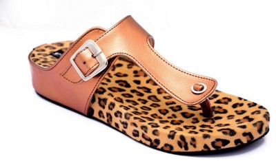 Steady walk Girls Brown Wedges