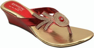 Remson India Women Red Wedges