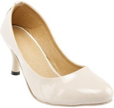 Nshell Women White Heels