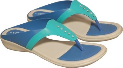 D&D Women Blue, Green Flats