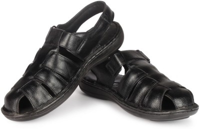 Leather King Sandals England Black Men Black Sandals